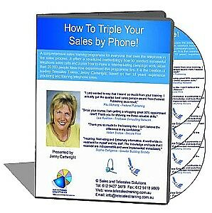 How to Triple Your Sales by Phone (4 hour live workshop with workbook) CD/DVD