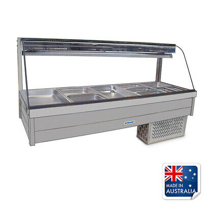 Bain Marie / Cold Food Display Curved Double Row inc 10x 1/2 Pans Roband CRX25RD