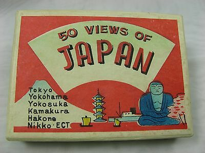 "Post WWII ""50 Views of Japan"" Black/White Photos w/Original Box~1940s-1950s~"