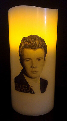 Rick Astley Electronic Flameless Flickering Candle