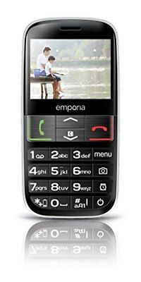 Emporia EUPHORIA 2.3 90g Black, Silver - mobile phones (Single SIM, MiniSIM, Al