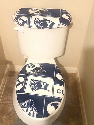 NEW ENGLAND PATRIOTS Marble Fleece Fabric Toilet Seat Cover Set (2PC)