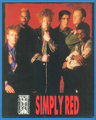 """SIMPLY RED.10 x 8"""" PHOTOCARD.PUBLISHED 1986"""