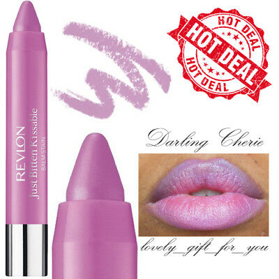 New Revlon Just Bitten Kissable Balm Stain Lipstick 010 Darling Cherie 2.7g SALE