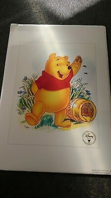 Winnie the Pooh 1997 Disney Store Exclusive Commemorative Lithograph