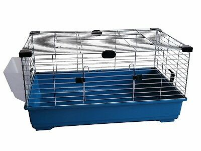 Heritage Blue Rabbit 100cm Large Indoor Cage Kit Guinea Pig Rodent Hutch Home