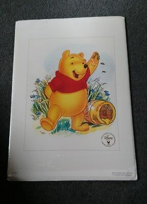 Pooh Bear Disney Store Exclusive Commemorative Lithograph