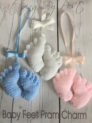 Knitting By Post Knitted Baby Feet Pram Charm Knitting Pattern