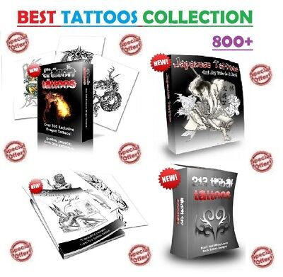 BEST SERIES - 800+ Tattoos in 6 EBooks with Resell Rights ( in PDF format )
