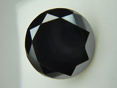 2.00ct 8.10mm 20 stone Loose Black Round Excellent Cut VVS1 Clarity Moissanite