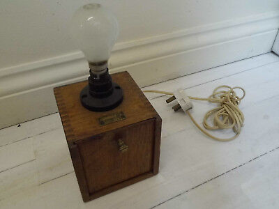 Industrial Venner Time Switch Light In Wooden Case, Original Key, Steampunk