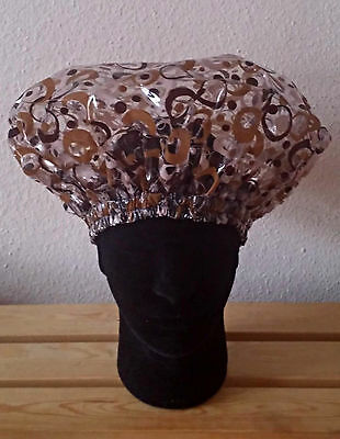 Handmade Brown Retro Unisex Shower Caps