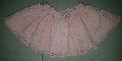 baby girls lace floral skirt sz 1 excellent condition