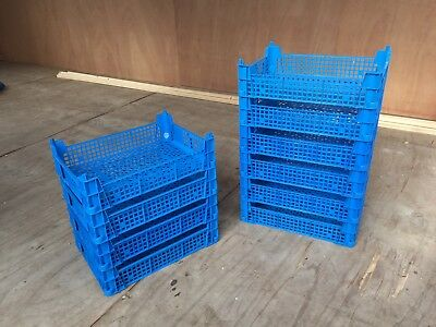 10 x USED BLUE STACKING TRAYS LEGO STORAGE PARTS STORAGE