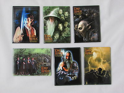 Lord Of The Rings Fellowship Of The Ring Movie Six (6) Magnet Set New Unused