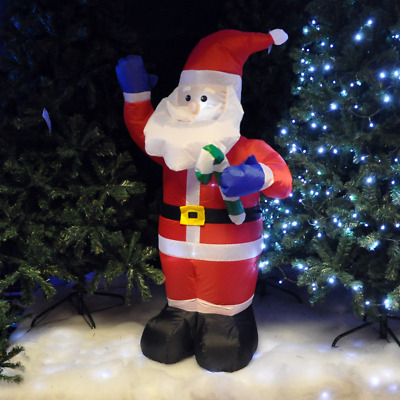 1.2M Christmas Inflatable Santa Claus Xmas Decoration Outdoor Garden Lights NEW