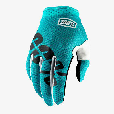 2018 100% ITRACK MOTOCROSS MX BIKE GLOVES TEAL mtb