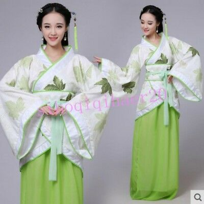 Chinese Ancient Costume Clothing Ladies Dress Stage Cosplay Floral Hanfu CNS-2XL