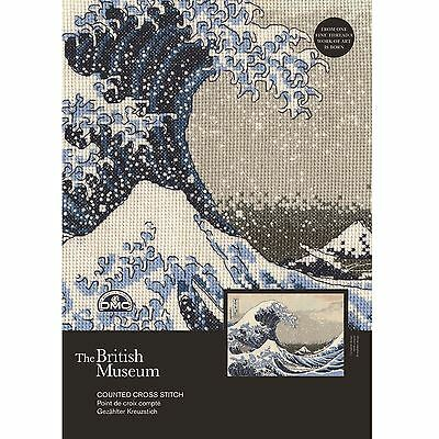 DMC British Museum The Great Wave Counted Cross Stitch Kit