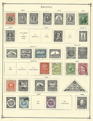 Bolivia Collection 1866 to 1970 on Scott International Pages