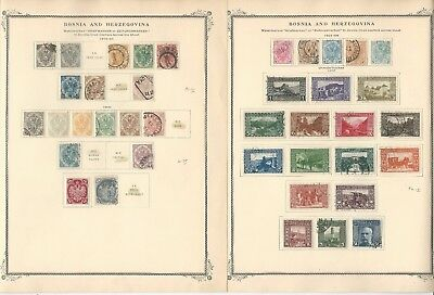 Bosnia Herzegovina Collection 1879-1918 on 9 Scott Specialty Pages