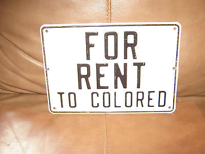 For Rent to Colored Embossed Metal Sign
