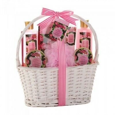 Bath & Body Gift Set in Reusable Basket 6 Different Scents Mix & Match Any 4