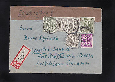 AM Post, Reco Brief 1946 aus Wankendorf nach Neu Banz/Staffelstein