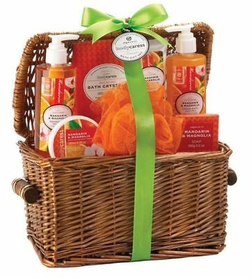 Bath & Body Gift Set in Reusable Basket 6 Different Scents Mix & Match Any 3