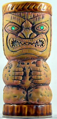 Trader Dick's Green Jeweled Eyes Peanut Tiki Mug Bar Cocktail Ceramic