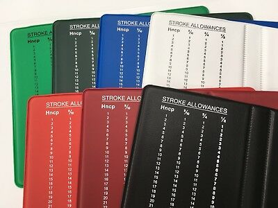 Golf scorecard holder with pencil and individually bagged, Assorted Colours
