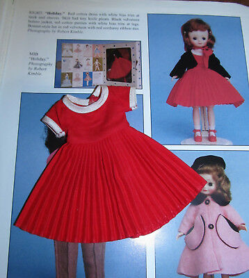 ON SALE!  RARE 1950's Betsy McCall RED Pleated HOLIDAY Dress!