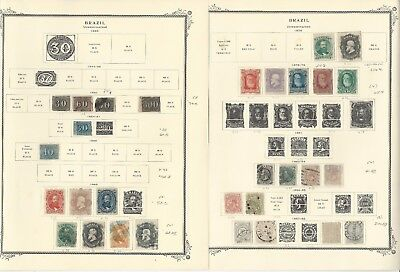 Brazil Collection 1843-1940 on 29 Scott Specialty Pages, SCV $1275