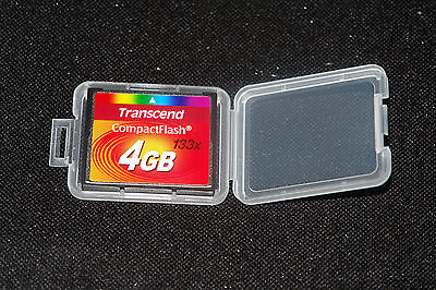 Transcend 4gb Compact Flash CF Memory Card x133 (Used)