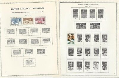 British Antarctic Territory 1963 to 1984 11 Minkus Specialty Pages, 4 Stamps