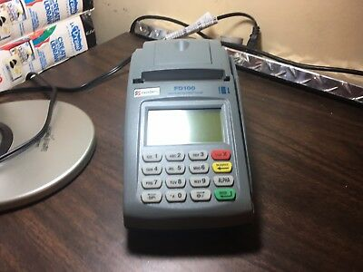 First Data FD-100 Credit Card Reader ( No Power supply ) WORKS PERFECTLY