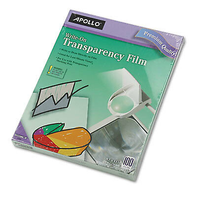 Write-On Transparency Film, Letter, Clear, 100/Box WO100CB
