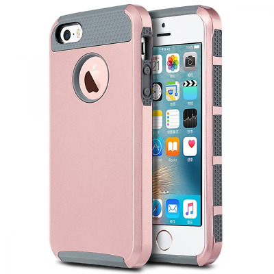 iPhone 5S Case, J.west TPU Hybrid Dual Layer Armor Defender Full Body Protective