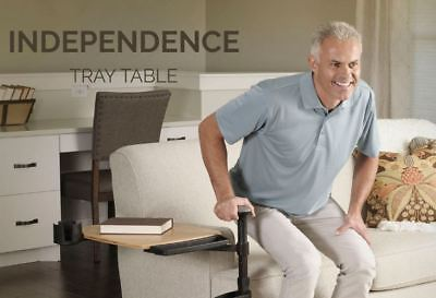 Fall Stop Independence Bamboo Tray Table Elderly Disabled Mobility