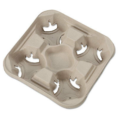 StrongHolder Molded Fiber Cup Trays, 8-32oz, Four Cups, 300/Carton 20994CT
