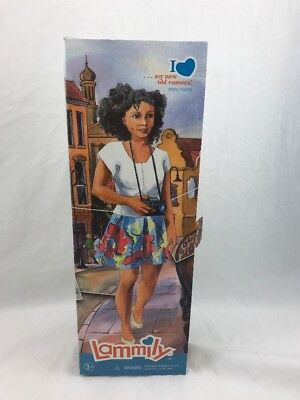 African American Lammily Doll My New Old Camera doll with a realistic body shape