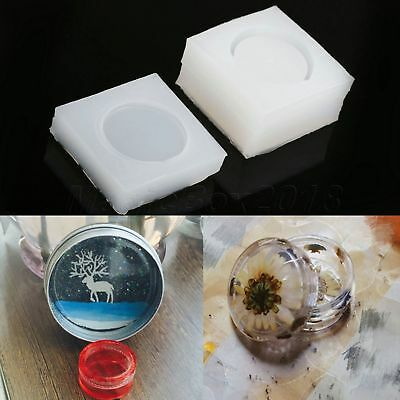 DIY Craft Tool Small Round Box Mold Making Jewelry Pendant Resin Casting Mould