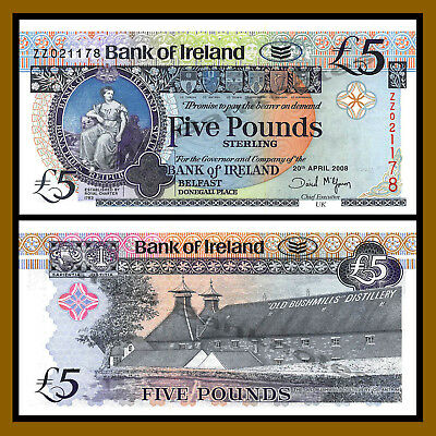 Northern Ireland, 5 Pounds, 2008, P-83 Replacement (ZZ) Unc