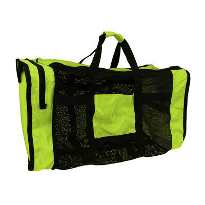 Portable Swimming Storage Carry Mesh Bag for Diving Scuba Snorkel Gear Green
