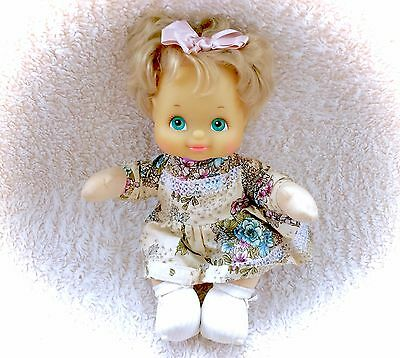 1986 My Child Doll Mattel  Blond Hair Complete Outfit Floral Dress 80s Original