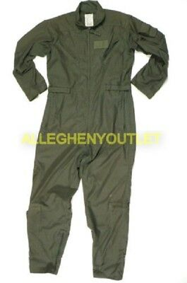 US Military Flyer's Flight Suit Coveralls Sage Green CWU-27P USAF MANY SIZES VGC