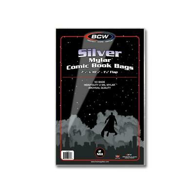 Pack of 50 SILVER AGE Comic Book Archivals 2 Mil Mylar Bags Sleeves BCW NEW