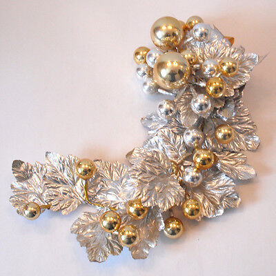 Vintage Silver And Gold Christmas Swag