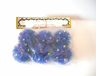 Vintage Plastic Ball Christmas Ornaments Package of 6