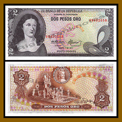 COLOMBIA NOTE $2 1977 REPLACEMENT UNC